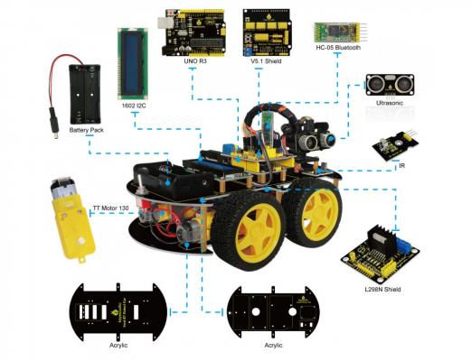 Arduino zelf-bouwen en zelf-programmeren auto