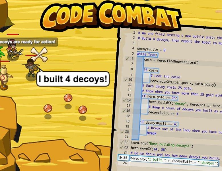 CodeCombat: Dit spel kun je alleen met Python code spelen!